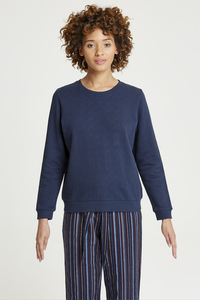 Sylvia Sweatshirt Navy - People Tree