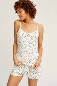 Stars Pyjama Camisole Top Cream - People Tree