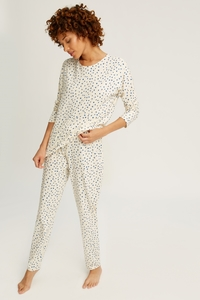 Stars Pyjama Long Sleeve Top Cream - People Tree