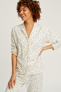 Stars Pyjama Shirt Cream - People Tree