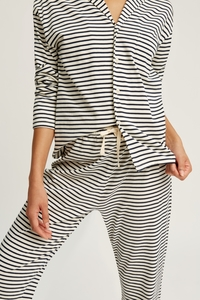 Stripe Pyjama Shirt Navy - People Tree