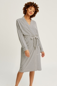 Stripe Robe Navy - People Tree
