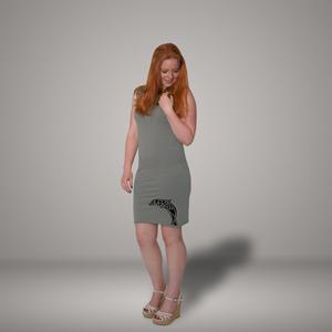 'Delfin' Bio-Kleidchen in Platingrau - shop handgedruckt