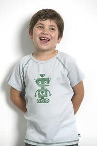 Raglan T-Shirt mit Aufdruck aus reiner Biobaumwolle kbA - green astronaut
