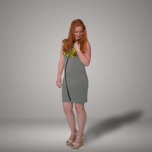 'Wilde Möhre' Bio-Kleidchen in Platingrau - shop handgedruckt
