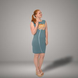 'Wilde Möhre' Bio-Kleidchen in Taubenblau - shop handgedruckt