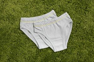 Mädchen Unterhose / Slip // im Doppelpack aus reiner Bio Baumwolle kbA / GOTS - green astronaut