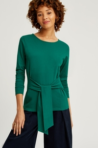 Pippa Tie Top Green - People Tree
