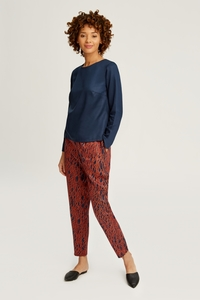 Stoffhose - Aina Trousers Navy - People Tree
