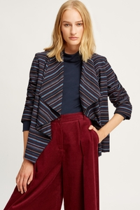 Hannelle Waterfall Jacket Navy - People Tree