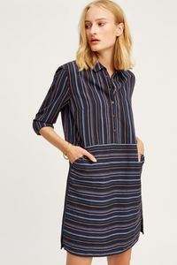 Brea Shirt Dress Navy - People Tree
