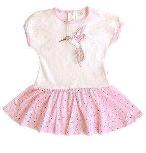 Mädchen Kleid Josy rosa creme Bio Baumwolle iobio - iobioTM (PoPoLiNi®)
