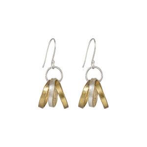 Multi Ring Earrings Brass - People Tree