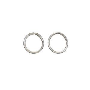 Simple Circle Earrings Silver  - People Tree