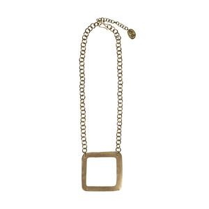 Kette - Square Necklace Brass - People Tree