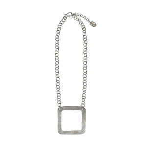 Kette - Square Necklace Silver - People Tree