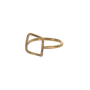 Square Ring Brass - People Tree