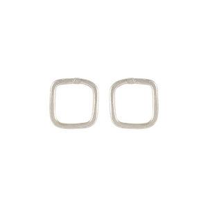 Square Stud Earrings Silver - People Tree