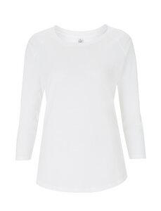 Tencel Blend Raglan 3/4 T-Shirt - weiß - Continental Clothing