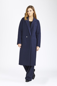 Coat Eugene-Navy - LangerChen