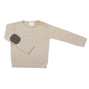 l´asticot Merino Wolle Pullover hellgrau - lasticot
