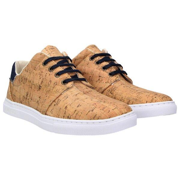 new product 15bf4 8baad echt #402 Herren Korkschuhe vegane Sneaker jeansblau