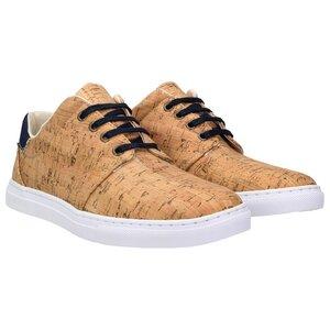 echt #402 Herren Korkschuhe vegane Sneaker jeansblau - ZWEIGUT®