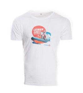 Leinenlos Herren Recycled Organic cotton T-Shirt weiß - MISSION LIFELINE