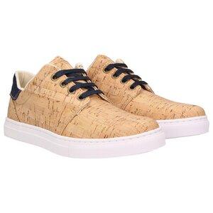 echt #401 Damen Korkschuhe vegane Sneaker Jeansblau - ZWEIGUT®