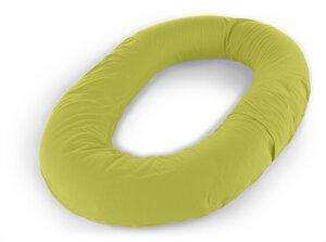 myO Seitenschläferkissen, Dessin 14 Jersey schilfgrün Länge 130 cm  - Theraline