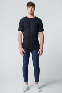 T-Shirt Oversized Pocket // Schwarz - WIEDERBELEBT