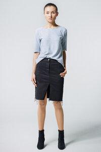 Shirt Open Back // Hellgrau - WIEDERBELEBT