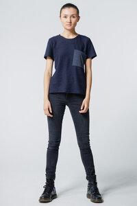 T-Shirt Big Pocket // Dunkelblau - WIEDERBELEBT