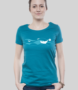 Low Cut Shirt Women Ocean 'Ahoi' - SILBERFISCHER