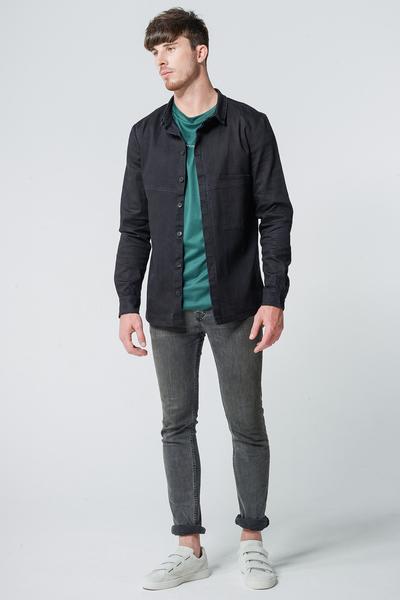 wiederbelebt jeansjacke hemd oversized pocket. Black Bedroom Furniture Sets. Home Design Ideas