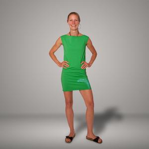 'Delfin' Bio-Kleidchen in Apfelgrün - shop handgedruckt