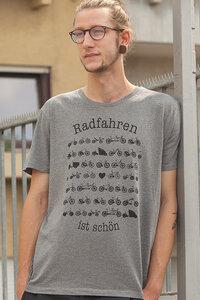 """Räder Männer T-Shirt """"Radfahren ist schön"""" - Fair Wear - Heather Grey - päfjes"""