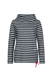 Low Seas Sweatshirt Breton Night Ecru - Seasalt Cornwall