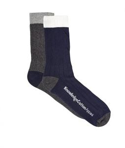 Organic Cotton Socks 2 Pack navy/grey - KnowledgeCotton Apparel