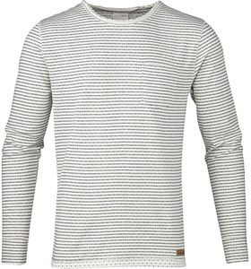 Double Layer Longsleeve Tee Stripe White - KnowledgeCotton Apparel