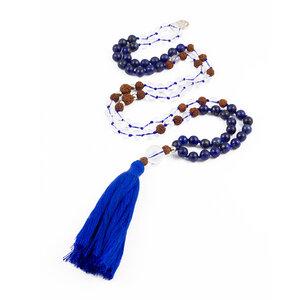 """Mala Gebetskette """"TRUTH"""" mit Lapis Lazuli und Mondstein - oh bali"""