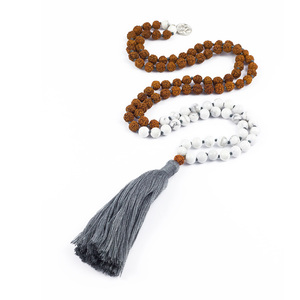 "Gebetskette Yoga Mala Kette ""SELF-CONFIDENCE"" Howlith und Rudraksha - oh bali"
