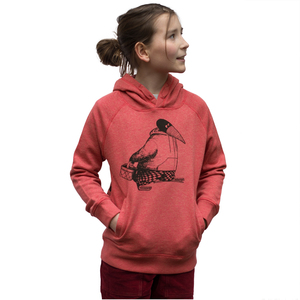 Blaubeer Stig hoodie heather cranberry - Cmig