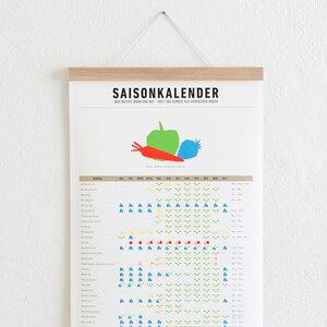 Set / Saisonkalender + Magnetische Posterleiste Eiche A3 - Kleinwaren / von Laufenberg