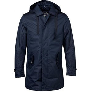 Functional Parka W/Quilted Lining - Total Eclipse - KnowledgeCotton Apparel