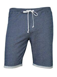 True Petrol Shorts - zweifarbig blau-creme - woodlike