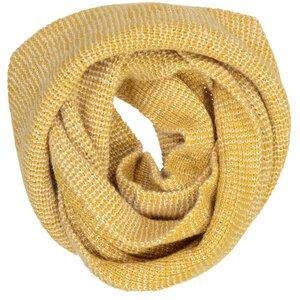 Rundschal - 100% Baby Alpaka- Yellow/White - Les Racines Du Ciel