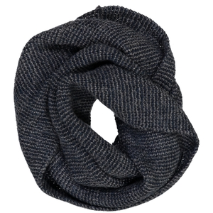 Rundschal - 100% Baby Alpaka- Grey/Blue - Les Racines Du Ciel