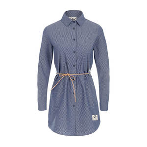 Swarm Hemdkleid Damen Jeansblau - bleed