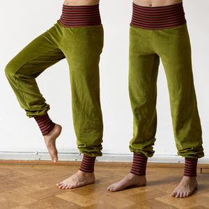 Yoga und Wohlfühlhose für Damen grün/rost-braun - Cmig